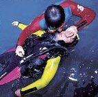 sauvetage d'un plongeur